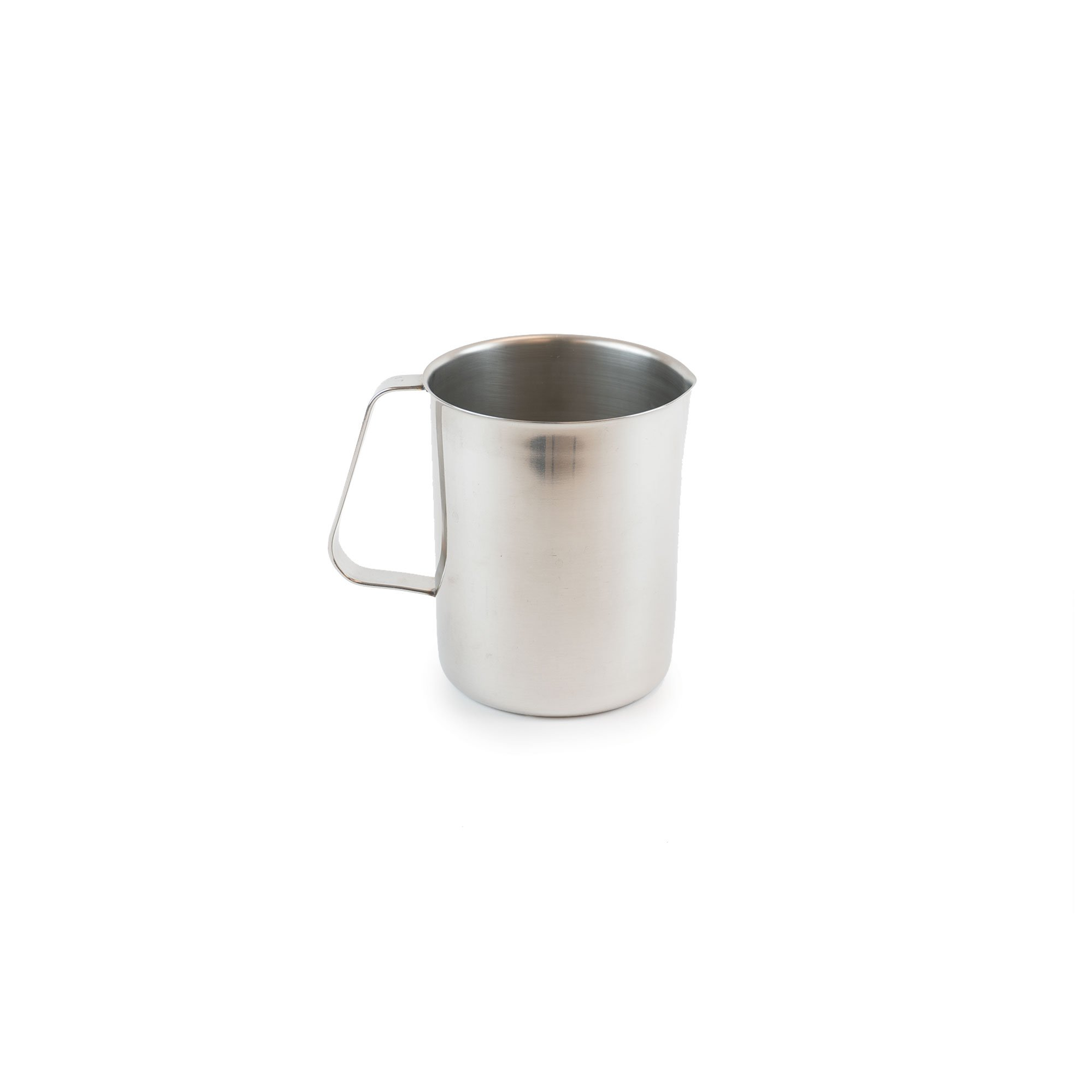 Medegen Medical Products 81020 Patient Bedside Pitcher, Straight-Sided, Stainless Steel, 2 Quart Capacity, 5-1/8'' x 4-3/4'' x 6-3/8''