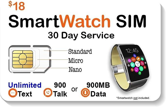 Amazon.com: $18 reloj inteligente Tarjeta SIM para 2 G 3 G ...