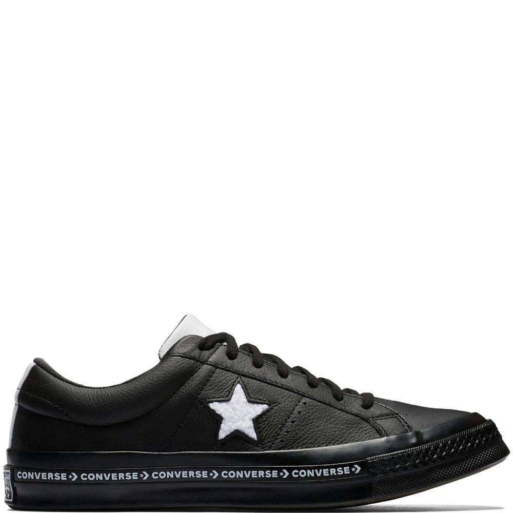 Converse Men's One Star Ox Black/White/Black, Black/White B07BTBLPX5 8.5 US Womens / 6.5 US Mens|Black/White