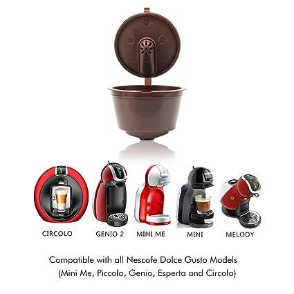 Amazon.com: MG Coffee Refillable Dolce Gustó Coffee Capsule, Reusable Holder Pod Compatible with Mini Me, Genio, Piccolo, Esperta and Circolo (6 PCS) ...