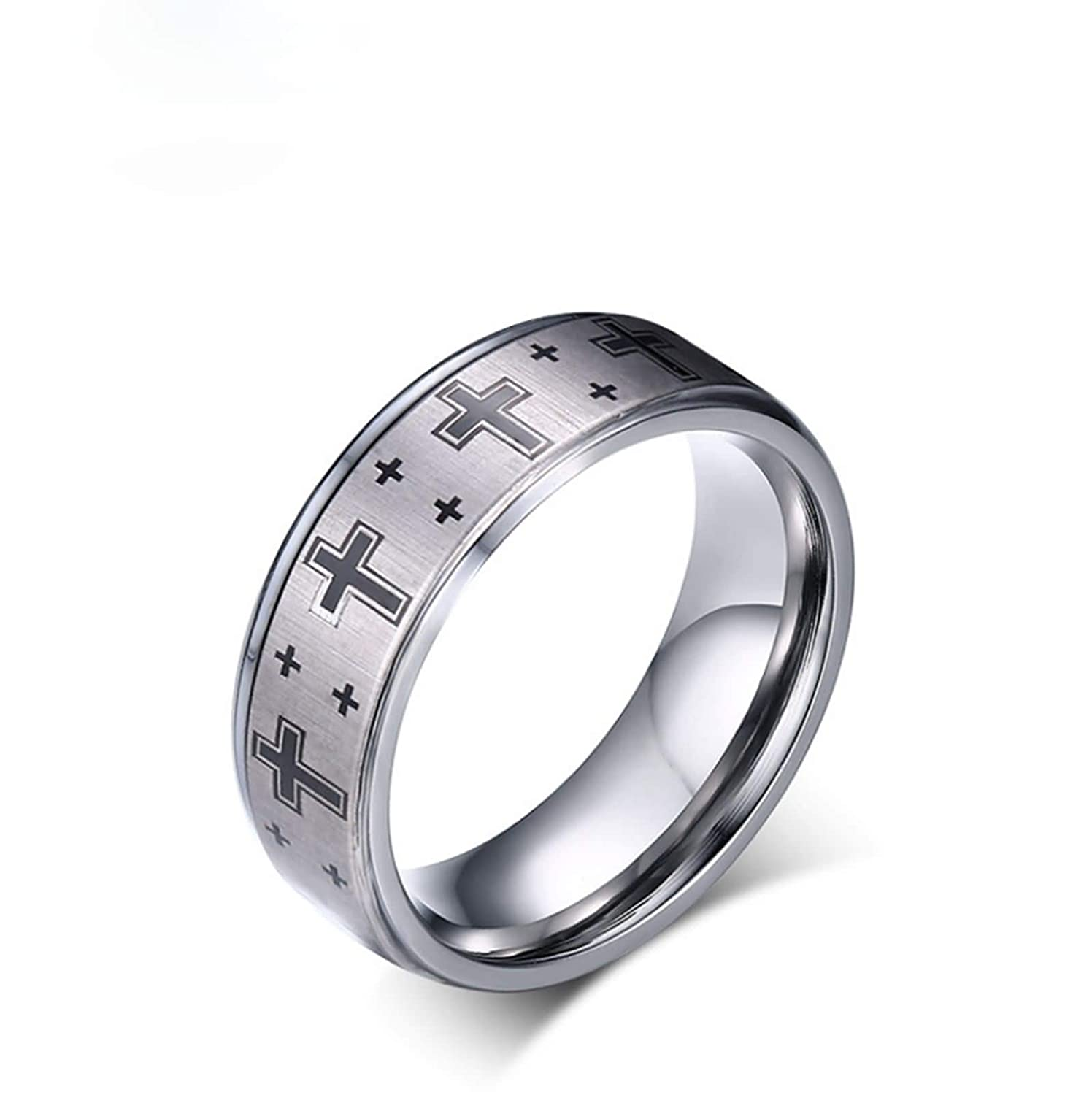 Amazon Anazoz Mens Rings Tungsten 8mm Cross Wedding Bands Vintage Jewelry: Wedding Rings Tungsten Crosses At Websimilar.org