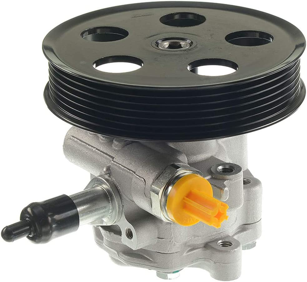 A-Premium Power Steering Pump with Pulley Compatible with Audi A4 A4 Quattro 2005-2009 l4 2.0L