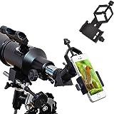 ipekoo Support Téléphone Portable Adaptateur universel–Compatible avec jumelles Monoculaire Longue-Vue Télescope et microscope–pour iPhone Sony Samsung Moto, etc.–La Nature d'enregistrement de la monde