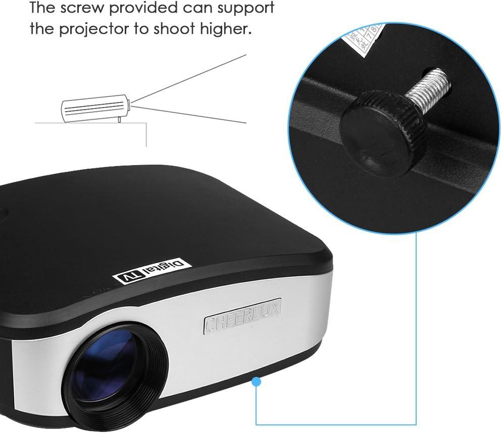 CHEERLUX C6 Mini Proyector LED Portátil de Home Cinema Cinema HDMI ...