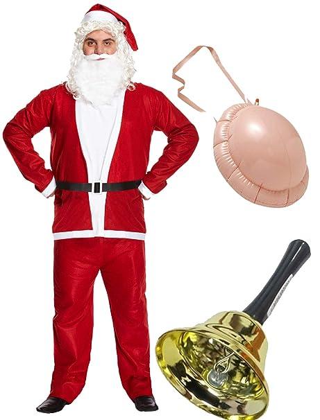 Labreeze Traje de Papá Noel de Navidad para Hombre con ...