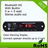 Salcon Electronics Vire VTF 108BT Bluetooth FM USB AUX Card MP3 Stereo Player Decoder Module Kit with Remote for Audio Amplifier