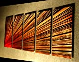 Pulsar left- 64 inch X 24 inch Abstract Painting Metal Wall Art by Nider the Internationally Acclaimed Artist of Modern Contemporary Decor Artwork