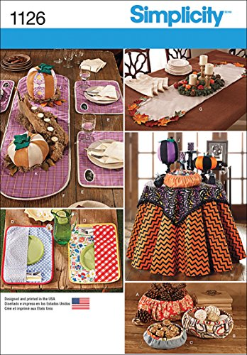 Simplicity 1126 Home Goods Table Accessories Sewing Pattern, Sizes Vary]()