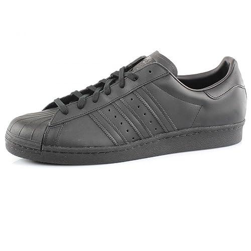 Adidas Superstar 80s Zapatillas Para Hombre Negro, 49 1/3: Amazon.es: Zapatos y complementos