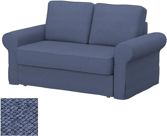 Amazon Com Soferia Replacement Cover For Ikea Backabro 2 Seat Sofa Bed Fabric Nordic Denim Home Kitchen