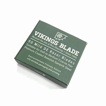 Amazon Com Vikings Blade Swedish Steel Replacement Razor Blades 50