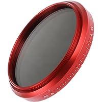 Fotga 67mm Ultra Slim Fader ND-Objektiv-Filter Einstellbare Neutraldichtefilter Variable ND2 zu ND400 Neutral Density Filter Graufilter - Rot