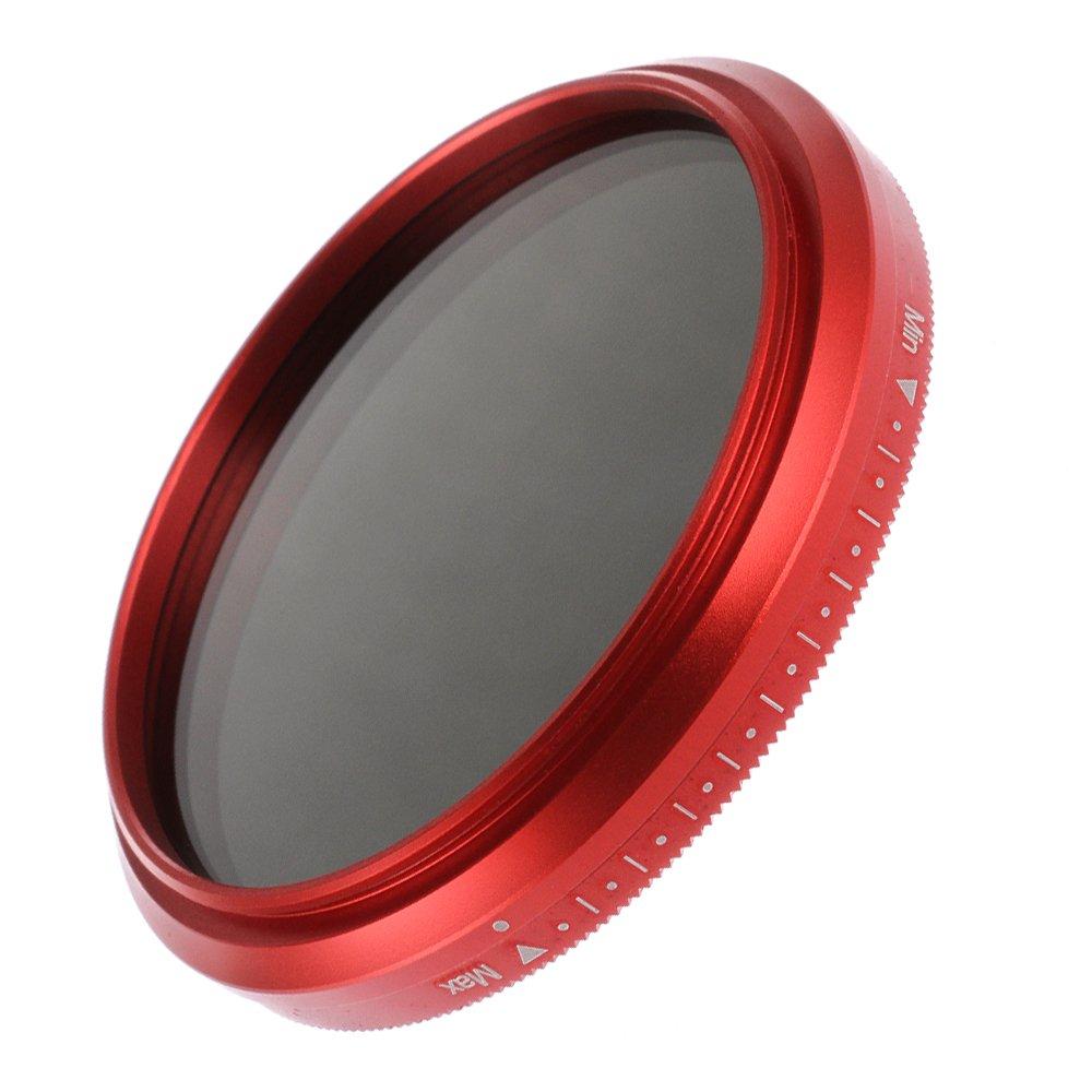Fotga 58mm ND2 to ND400 Slim Fader Variable Adjustable ND Neutral Density Filter Red Frame