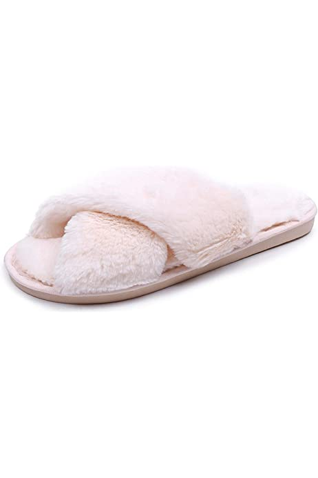 Details about  /Women/'s Slippers Overs Fur Slides Plush Indoor Warm Flat Shoes Loafers Fgg06