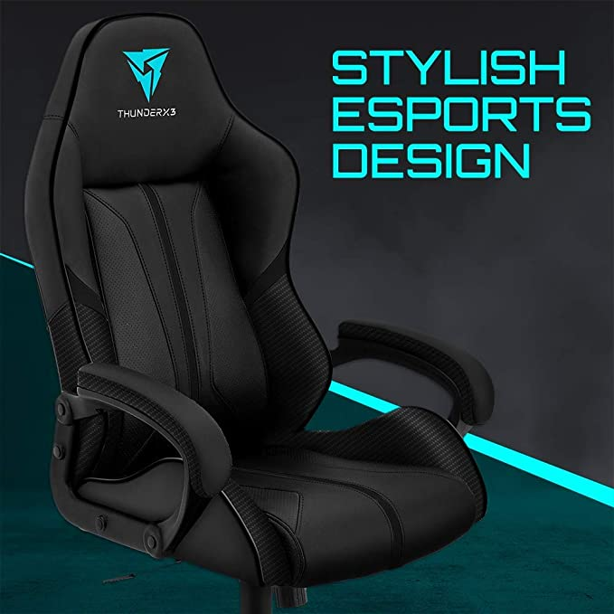 Amazon.com: ThunderX3 BC1 Office Gaming Chair - AIR Tech, Ergonomic Design, Premium Leatherette (Black): Computers & Accessories