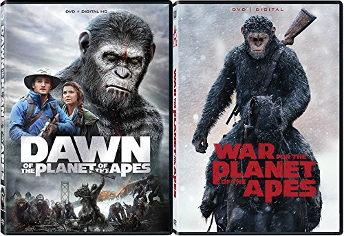 Planet of The Apes Double Feature War For The Planet Of The Apes & Dawn DVD + Digital Copy Science Fiction 2 pack