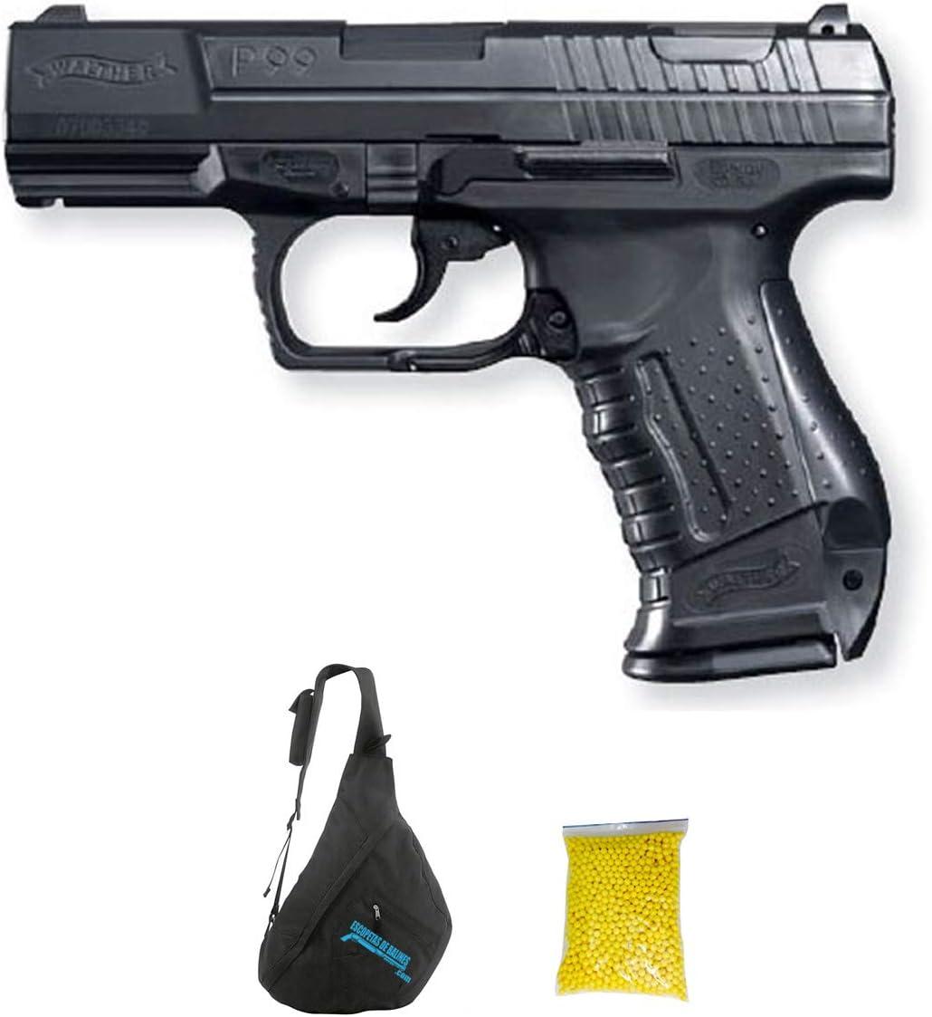 Walther P99 M28 | Pistola de Airsoft Calibre 6mm (Arma Aire Suave de Bolas de plástico o PVC). Sistema: Muelle. 0.5 Julios.