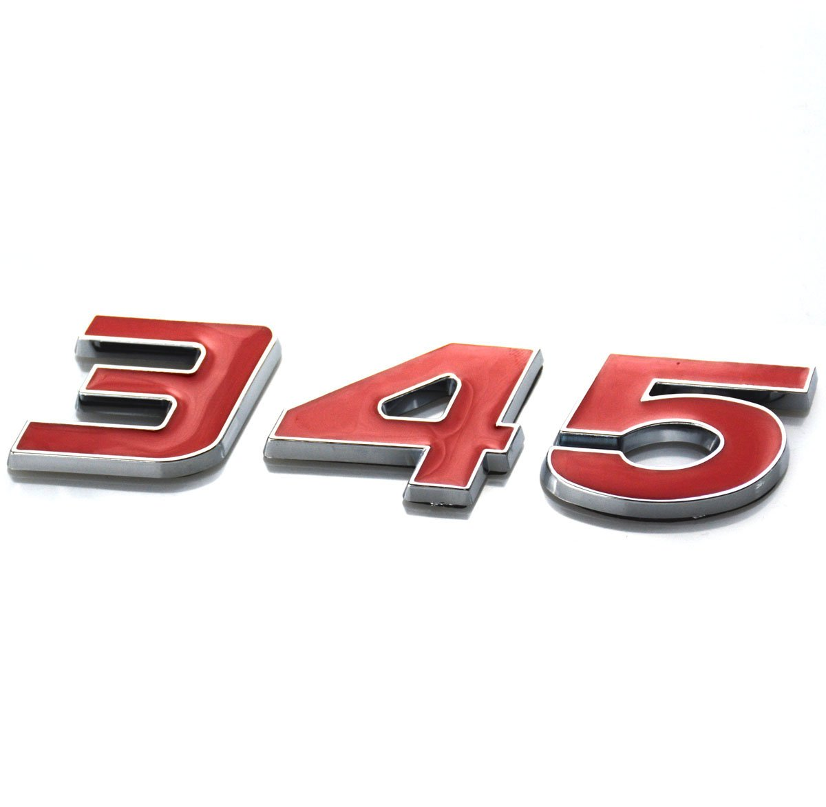 Badge Decal 3D Logo for Dodge Charger RAM Red Aimoll 2pcs 345 Emblem