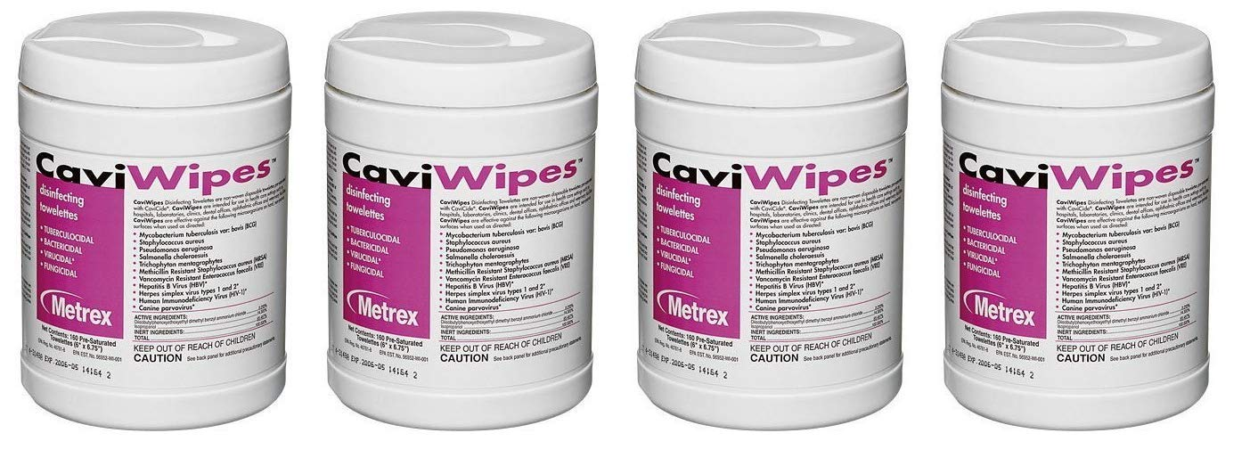 Metrex 13-1100 CaviWipes Disinfecting Towelettes (Pack of 12) (Fоur Paсk)