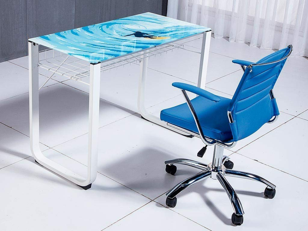 Mesa de estudio 100 cm modelo PICTURE con estructura metálica ...