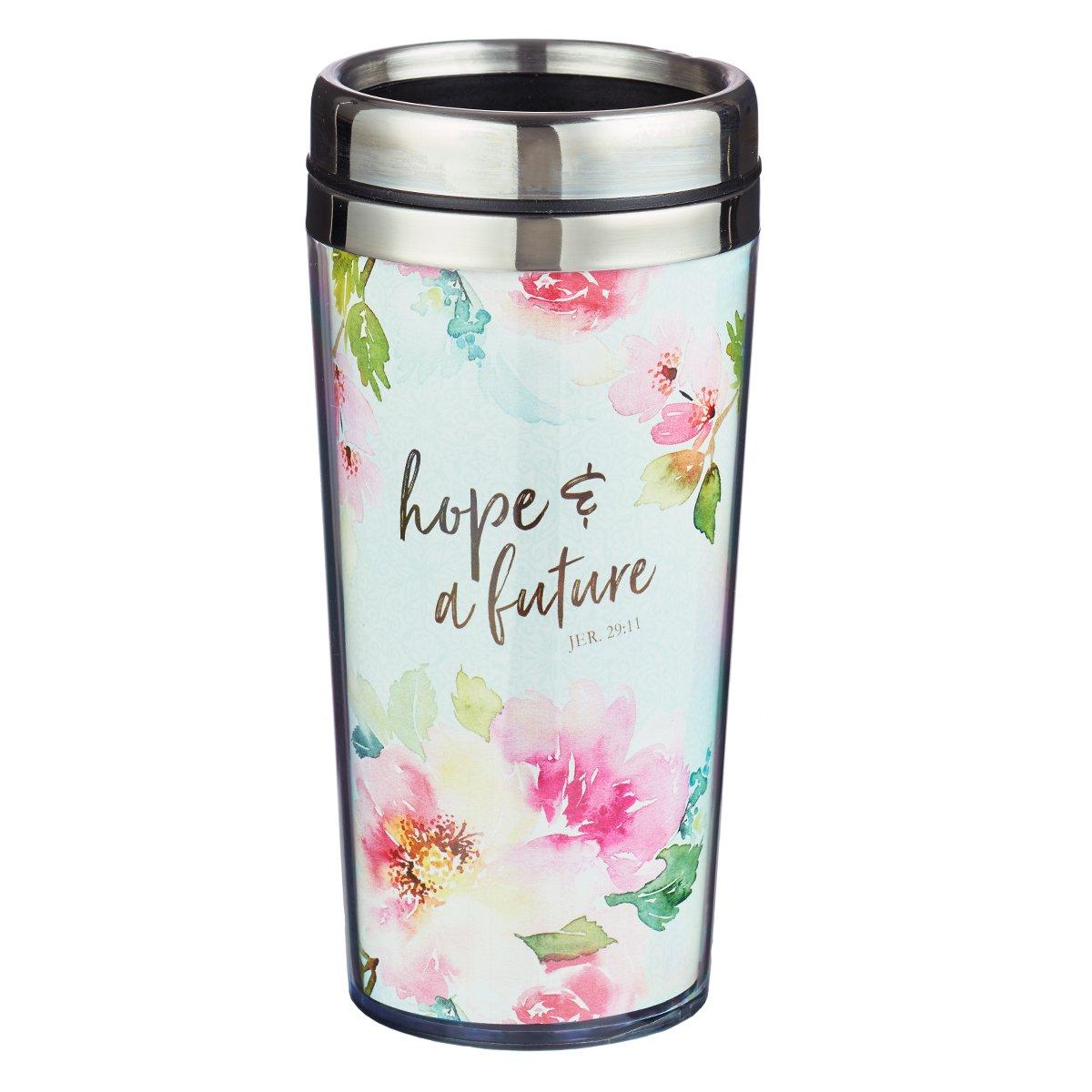 Coffee Travel Mug: Hope and Future - Jeremiah 29:11 by Christian Art Gifts