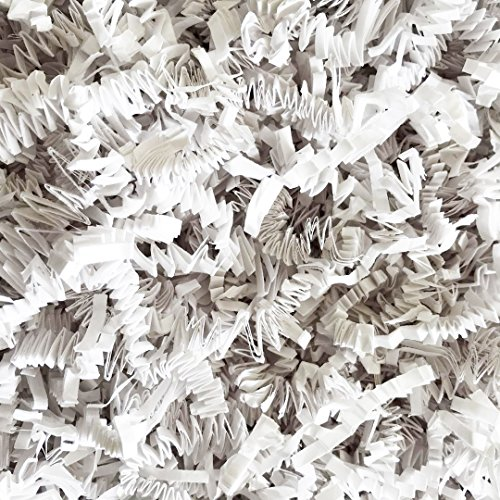 Black Cat Avenue 1 LB White Crinkle Cut Paper Shred Filler For Gift Wrap and Basket Filler by Black Cat Avenue