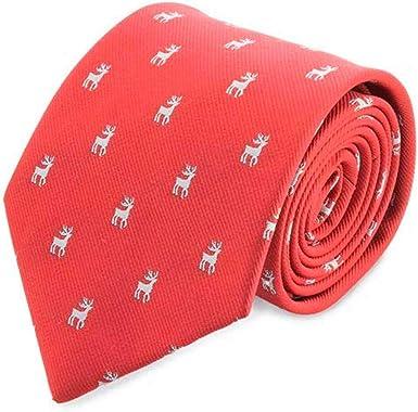 DISOK Lote de 5 Corbatas de Navidad RENO presentada en Estuche ...