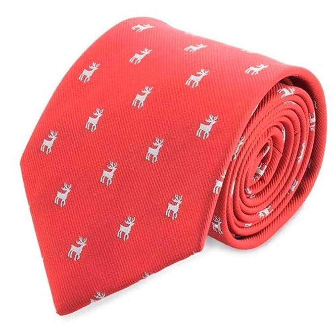 Lote de 5 Corbatas de Navidad RENO presentada en Estuche ...