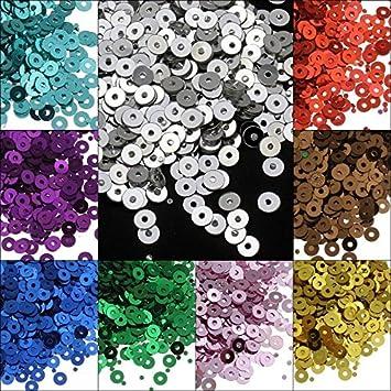13200 unidades de lentejuelas de 4 mm de diámetro, juego de 11 colores, lisas, redondas y redondas para ropa y joyas, artesanía, metalizadas, manualidades