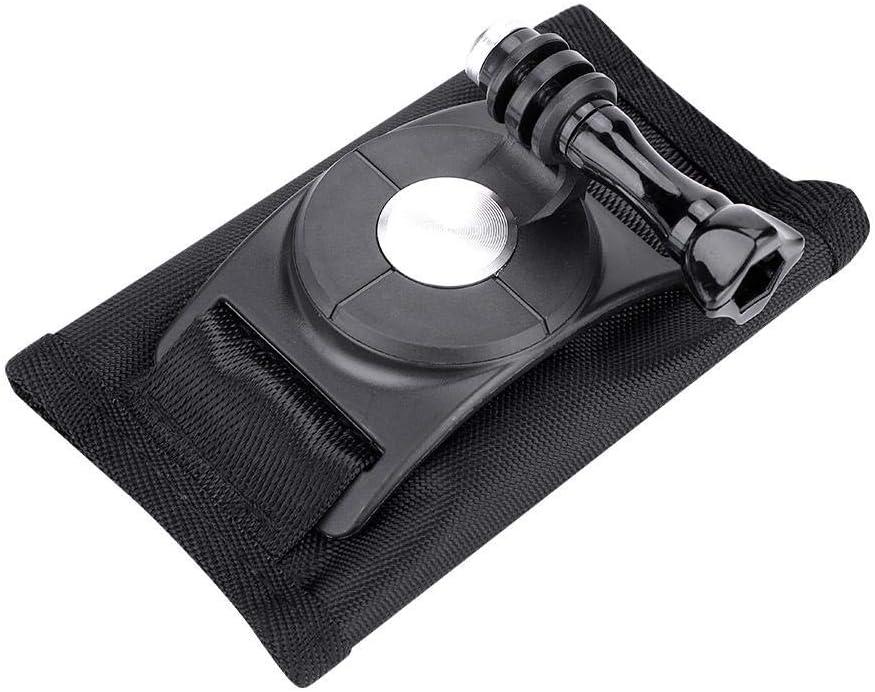 Mugast Backpack Camera Holder Skiing Hiking 360 Degree Rotation Backpack Camera Holder Black Camera Belt Holder for Cycling