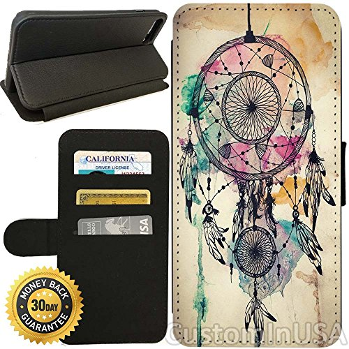 - Flip Wallet Case for iPhone 8 Plus (Light Dream Catcher) with Adjustable Stand and 3 Card Holders | Shock Protection | Lightweight | Includes Free Stylus Pen by Innosub
