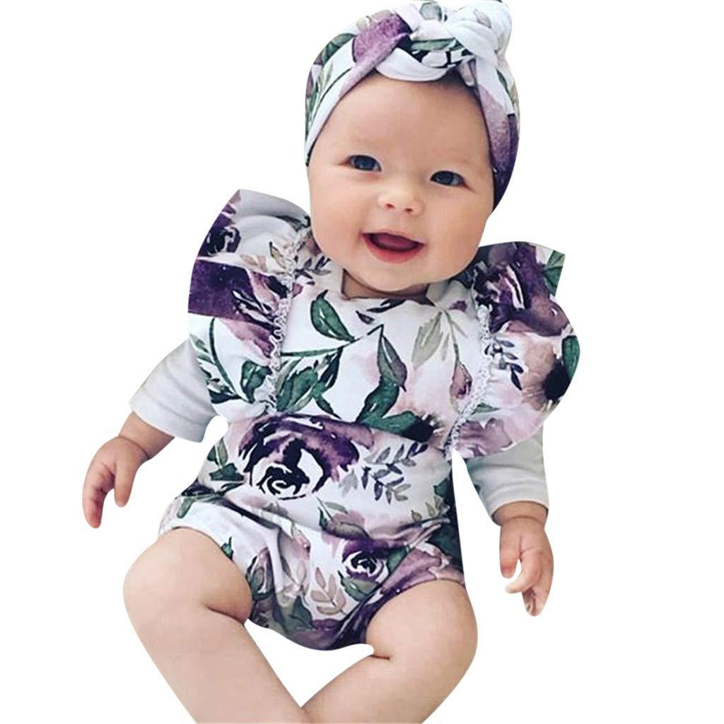 Liusdh-baby girl Romper Jumpsui Combinaison Fille 0 /à 24 Mois B/éb/é