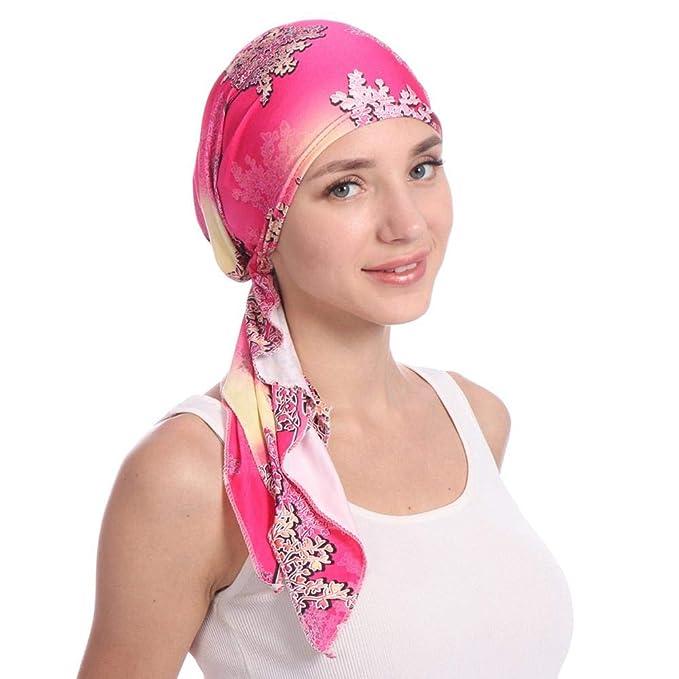 Molre-yan Gorro de Cabeza de Mujer Gorro de Cabeza Elegante Gorro de  quimoterapia Gorro de Dormir Gorro de Dormir para cáncer Quimioterapia  Alopecia Pérdida ... e2e759031f0