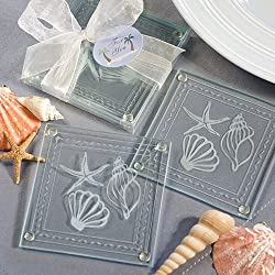 Beach Themed Glass Coaster Favors, 30