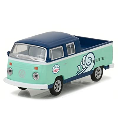 Greenlight 29894 1976 Volkswagen Type 2 Double Cab Pickup Doka Hawaii Surf Shop Hobby Exclusive 1/64 Diecast Model Car: Toys & Games