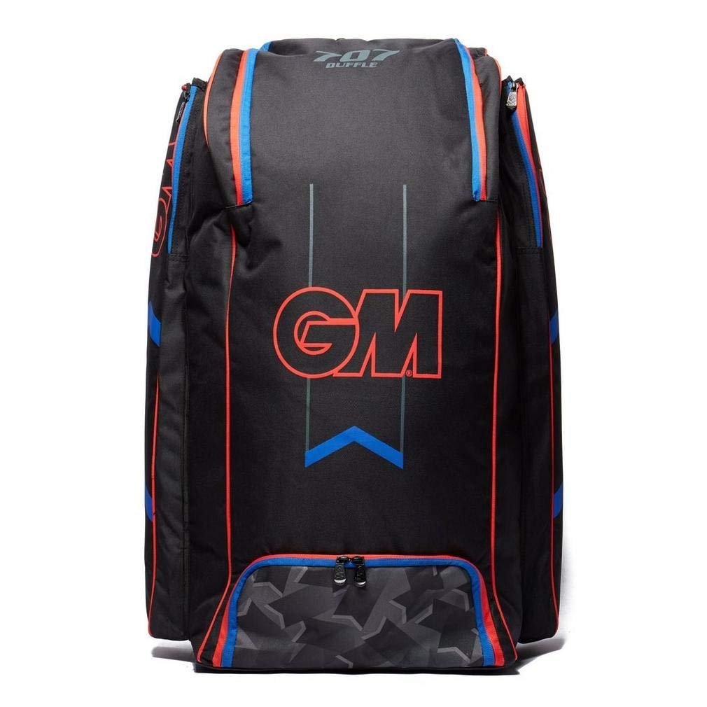 GM Cricket 707 Duffle 2019 Cricket Bag, Black/Red/Blue, One Size