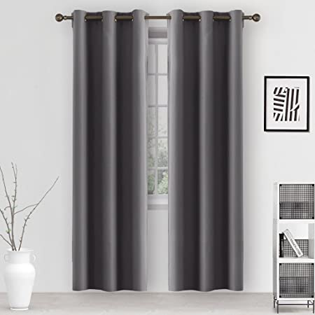 Amazon.com: GIAERD 96% Blackout Room Darkening Bedroom Curtains Panels,Thermal Insulated Solid Grommet Window Treatment Drapes for Living Room W42 X W84 ...