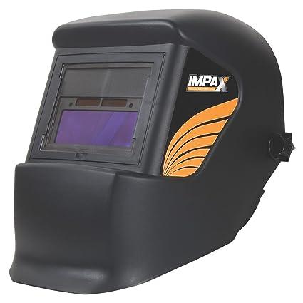 Impax casco de soldadura automática, color negro