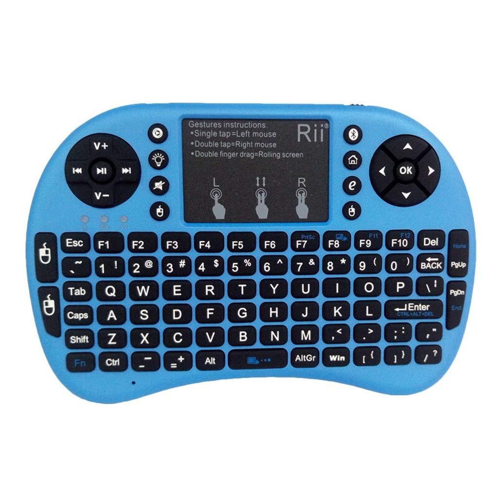 ZFF-YXJP I8 + Bluetooth Mini Teclado inalámbrico, Ratón Teléfono móvil Ordenador Portátil Retroiluminación Portátil Carga USB Versión Bluetooth Negro (Color ...