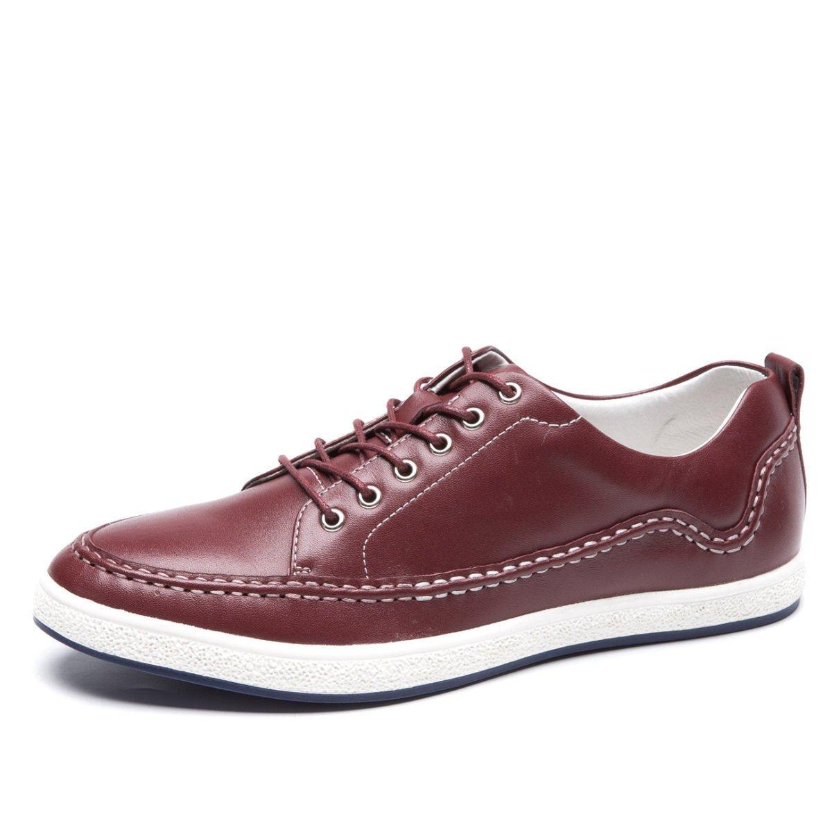 Gran De Los Hombres Zapatos Casuales Zapatos De Cuero De Los Hombres Zapatos De última Moda Zapatos De Los Hombres Jóvenes 41|Red