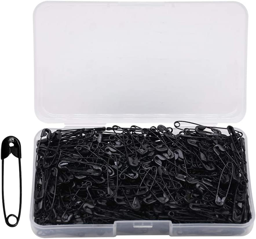 Large and Small Safety Pins Nickel Plated Pin Durable Black,22mm SENDILI 300 Pieces 7 Sizes Safety Pins Rust-Resistant for Art Craft Sewing Jewelry Making Home Office Use