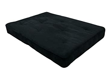 DHP 8 Inch Independently Encased Coil Premium Futon Mattress, Full Size,  Black