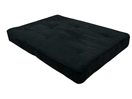 Medium image of dhp 8 inch independently encased coil premium futon mattress full size black