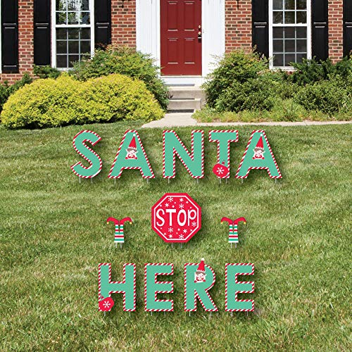 Big Dot of Happiness Elf Squad - Yard Sign Outdoor Lawn Deco