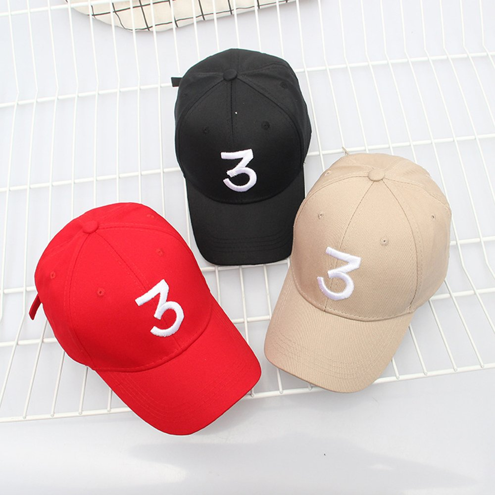 ZZURCCA Number 3 Baseball Cap Embroidered Adjustable Chance The Rapper Hip  Hop Hats Baseball Caps  1540969886-88747  -  7.39 c273e6aed251