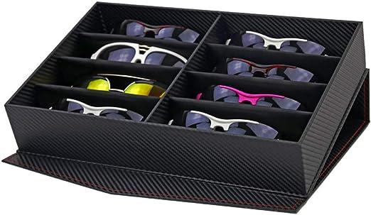 Lineary Estuche de Gafas de Sol Gafas de Sol multifuncionales Organizador Anteojos Eyewear Display Collection Estuche de Almacenamiento 12 Compartimentos Gafas Holder Box Caja de Gafas: Amazon.es: Hogar