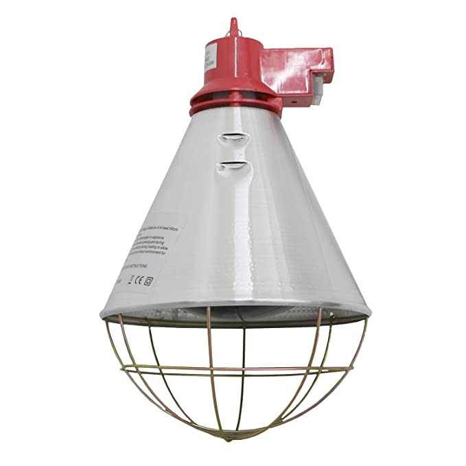 Oypla Poultry Heat Incubator Lamp 175w W Red Bulb For Chicks Puppies