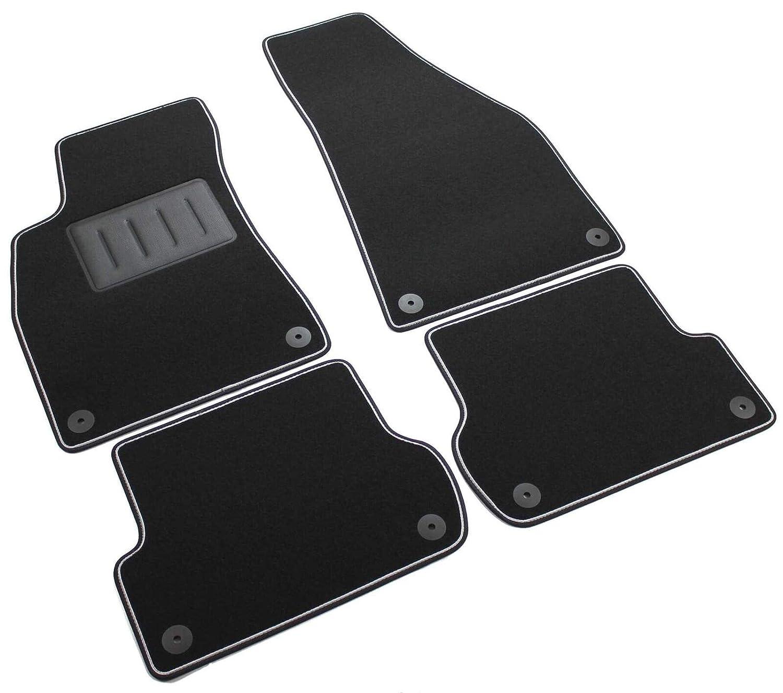 Color Negro Borde Bicolor Il Tappeto Auto SPRINT00205 Alfombrillas de Moqueta Antideslizante Talonera Reforzada de Caucho