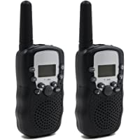 Hyperia Kids Walkie Talkies T-388 8 Channels 2-Way Radio Interphone with Built-in LED Torch VOX LCD Display,1 Pair…