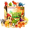Dinosaur Toys – Box Of 24 Pcs Assorted Dinosaurs Set Educational Toy Figures (Large & Mini) - Triceratops TRex Stegosaurus & More dinos. Play Mat For Imaginary & Developmental Milestones 3+ Year Olds